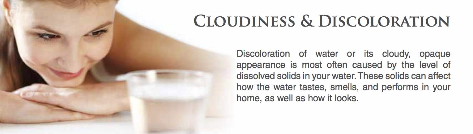 Cloudiness and discoloration