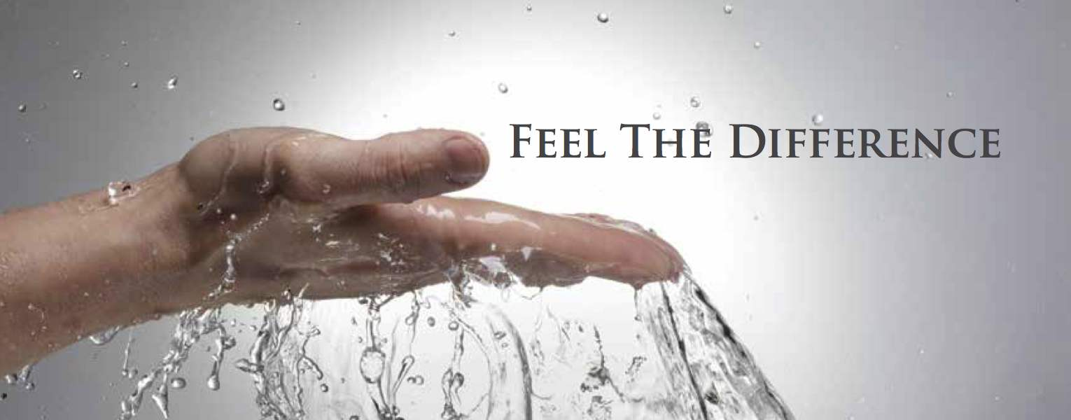 Soft water feels cleaner