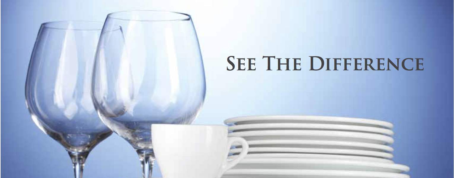 Soft water makes dishes brighter