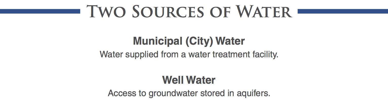 Two sources of water